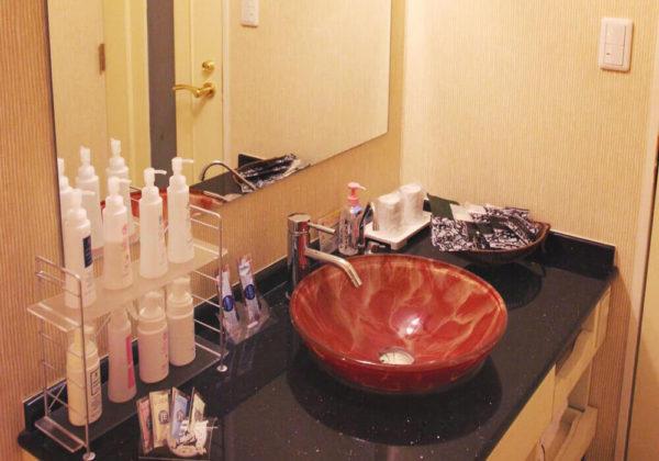 東松山ラブホテル バリタイ 101号室 洗面所