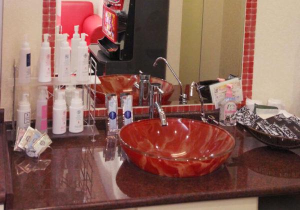 東松山ラブホテル バリタイ 210号室 洗面所
