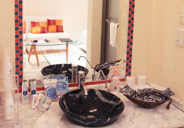 東松山ラブホテル バリタイ 216号室 洗面所