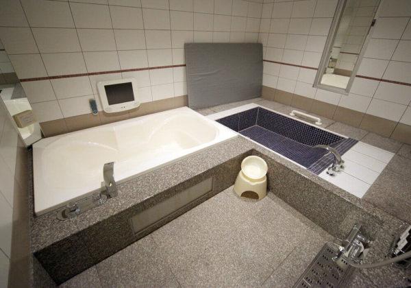 東松山ラブホテル バリタイ 220号室 お風呂、ローションマット、寝湯
